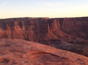 Mesa Arch:  Red Rocks at Sunset